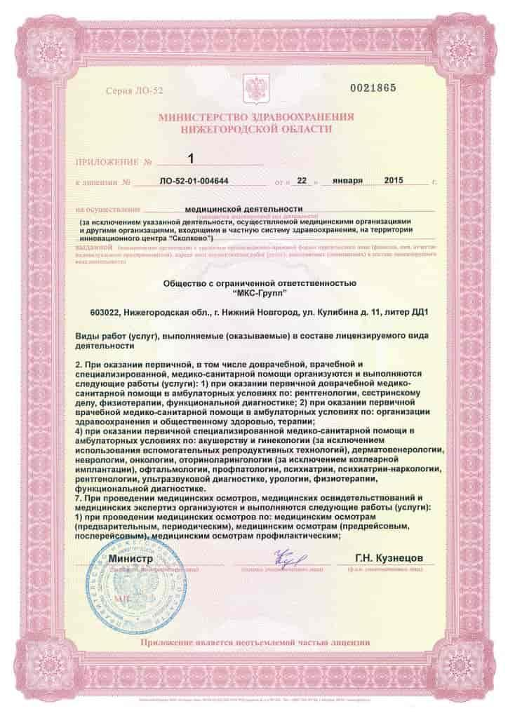 Лицензия СИТИ Клиники
